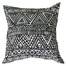 Black & White Totem Outdoor Cushion