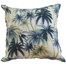 Blue Palm Trees Outdoor Cushion