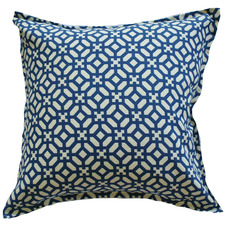 Blue Geometric Outdoor Cushion