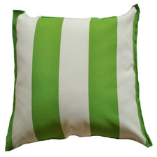 Green & White Stripe Cabana Outdoor Cushion