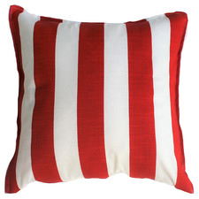 Red & White Stripe Outdoor Cushion
