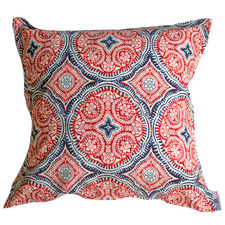 Red & Blue Medallion Outdoor Cushion