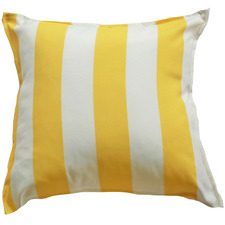 Yellow & White Stripe Outdoor Cushion