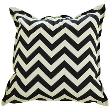 Black & Ivory Chevron Outdoor Cushion