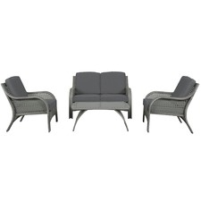 4 Seater Cove Outdoor Lounge & Coffee Table Set