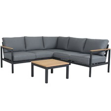 5 Seater Diamond Modular Outdoor Lounge & Coffee Table Set