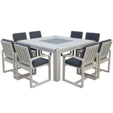 8 Seater Santorini Outdoor Dining Table Set