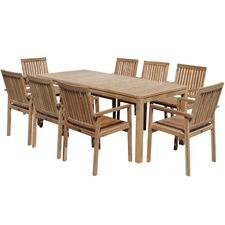 8 Seater Turin Teak Outdoor Dining Table Set