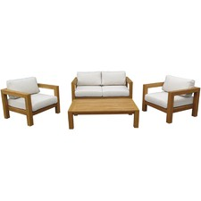 4 Seater Modena Outdoor Lounge & Coffee Table Set
