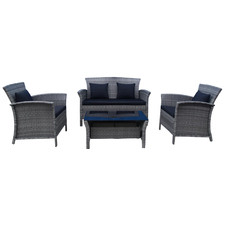 4 Seater Saint Lucia Wicker Outdoor Lounge Set