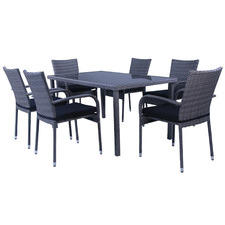 6 Seater Saint Lucia Outdoor Dining Table Set