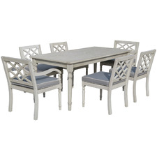 6 Seater Villa Eucalyptus Wood Dining Set