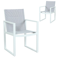 Riva Padded Outdoor Sling Dining Chairs (Set of 2)