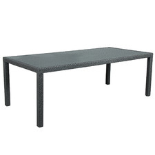 Charcoal Soul PE Wicker Outdoor Dining Table
