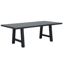 Fusion Metal Trestle Leg Outdoor  Dining Table