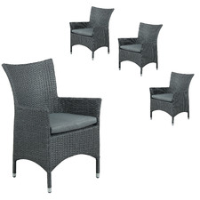 Soul PE Wicker Outdoor Tub Armchairs (Set of 4)