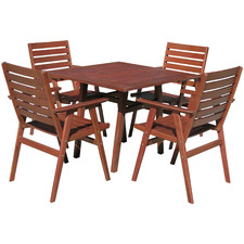 4 Seater Idaho Stained Wooden Outdoor Dining Set