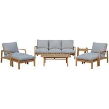 7 Seater Napa Wooden Outdoor Sofa Set