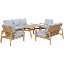 7 Seater Napa Combo Wooden Outdoor Dining Set