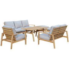 8 Seater Napa Combo Wooden Outdoor Dining Set