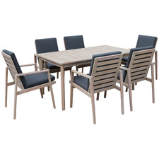 6 Seater Vineyard Wooden Outdoor Dining Set