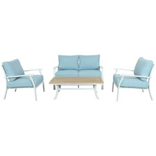 4 Seater City Wood & Metal Outdoor Sofa Set