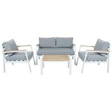 4 Seater Hazel Wood & Metal Outdoor Sofa Set