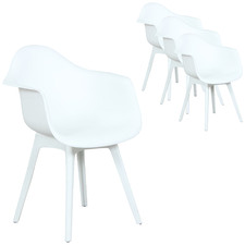 White Hillside Outdoor Dining Chairs (Set of 4)