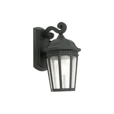 Cambridge One Light Exterior Wall Lantern in Black