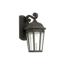 Cambridge One Light Exterior Wall Lantern in Bronze