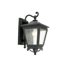 Nottingham One Light Exterior Wall Lantern in Black