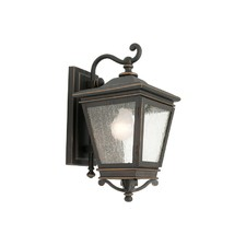 Nottingham One Light Exterior Wall Lantern in Bronze