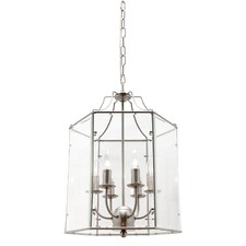 Arcadia 6 Satin Chrome Light Pendant