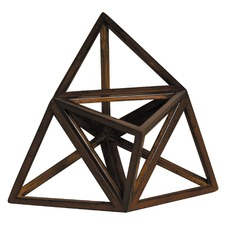Elevated Tetrahedron Decorative Accent