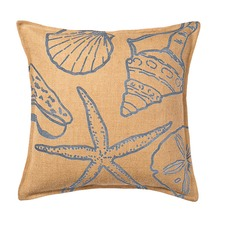 Eco-Accents Designs Shell Burlap Pillow