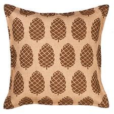 Eco-Accents Designs Pine Cone Burlap Pillow