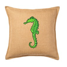 Eco-Accents Designs Seahorse Burlap Pillow
