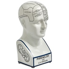 Phrenology Head Sculpture