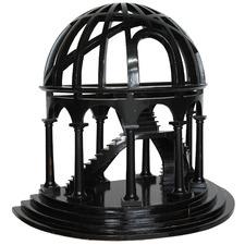 Black Demi-Dome Mahogany Ornament