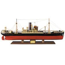 Black & Red Tramp Steamer Malacca Boat Ornament