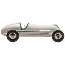 Silver Indianapolis Car Ornament
