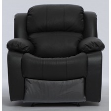 Kacey Black Leather Single Recliner Sofa