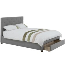 Poppy Upholstered Bed Frame with Storage Drawer