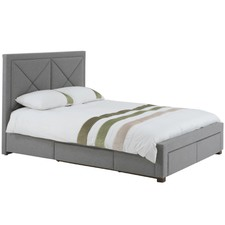 Harper Queen Upholstered Bed Frame with Storage Drawers