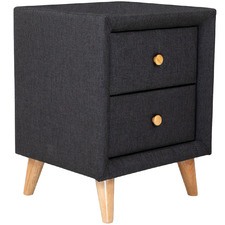 Sorrento Fabric Bedside Table