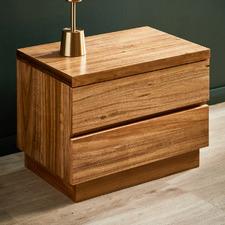 Naples Blackwood Timber Bedside Table