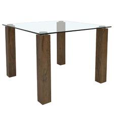 Square Eva Glass Dining Table
