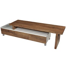 Oak & White Charlene Extendable Entertainment Unit