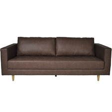 Karl 3 Seater Faux Leather Sofa