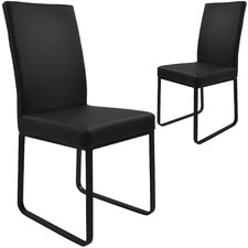 Edwin Faux Leather Dining Chairs (Set of 2)